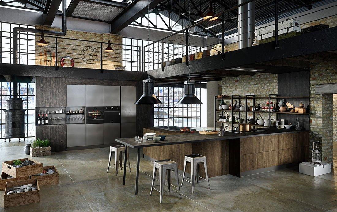 Astra lo stile industriale in cucina proposto da gardiman for Bar stile industriale